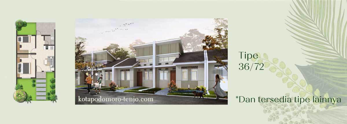Rumah Kota Podomoro Tenjo Tipe 36