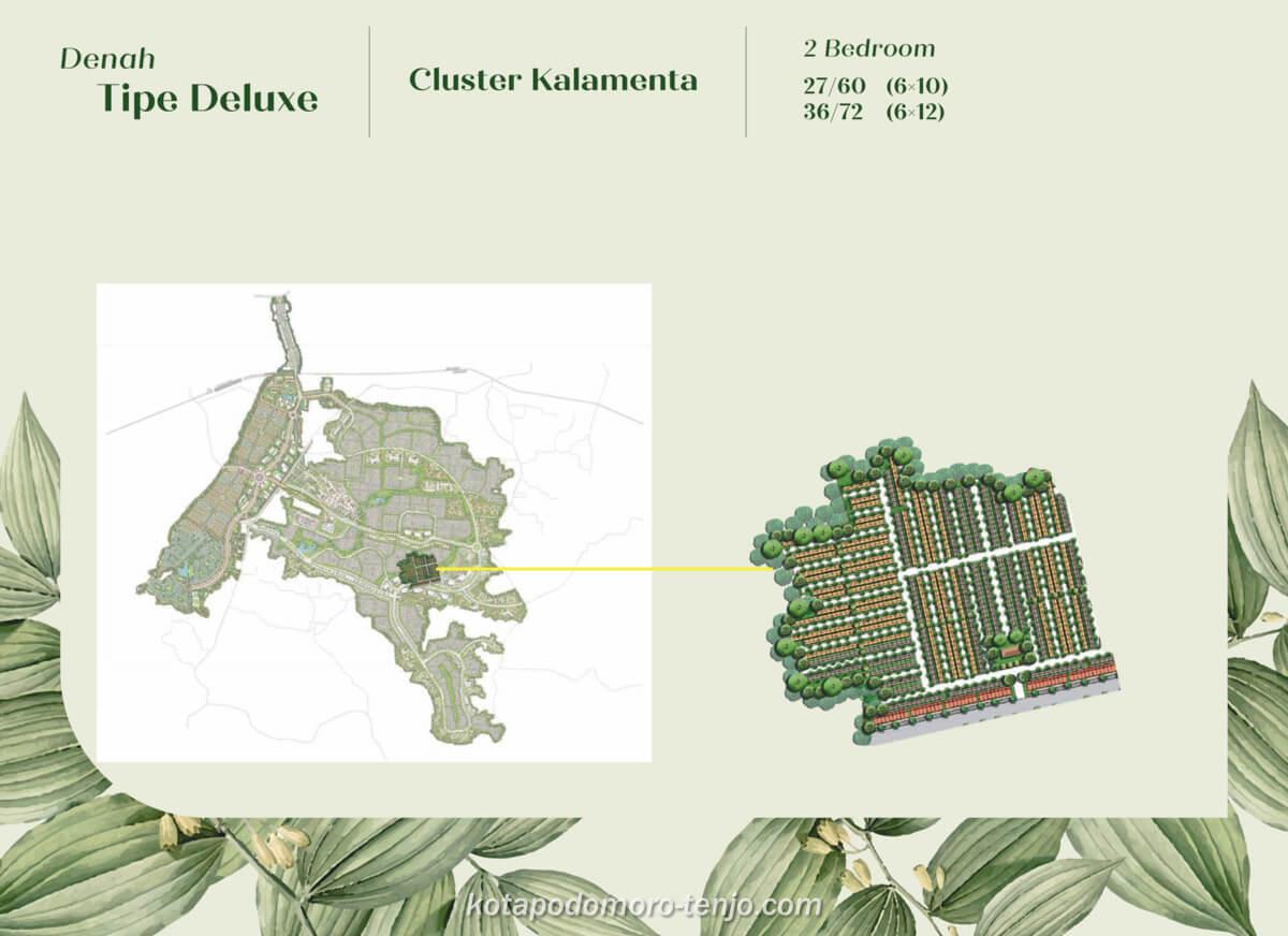 Siteplan Cluster Kalamenta Kota Podomoro