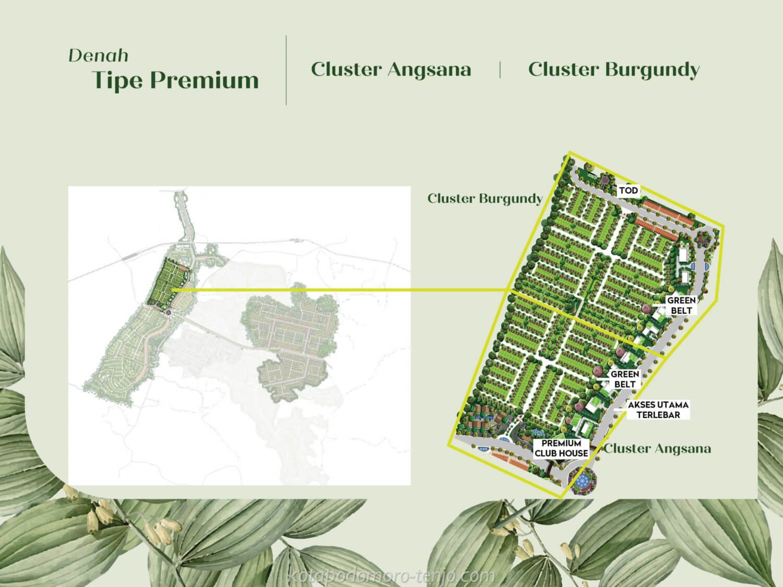 Posisi Cluster Burgundy Kota Podomoro Tenjo