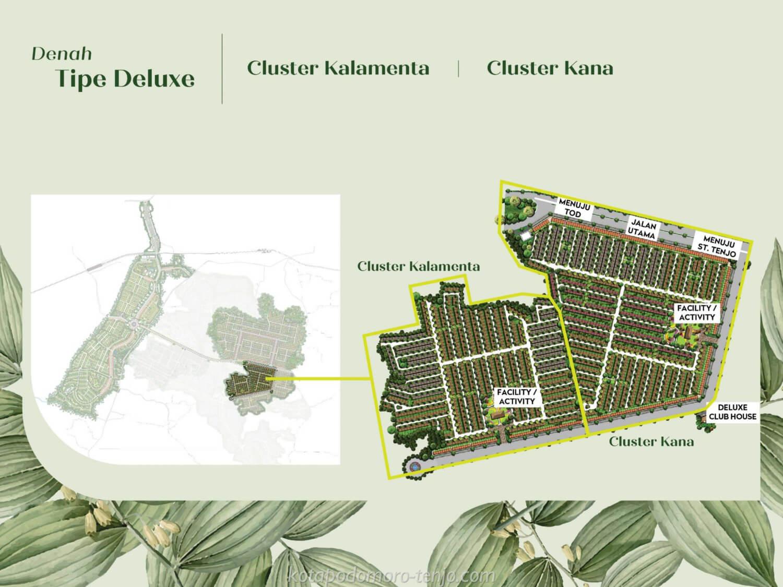 Posisi Cluster Kana Kota Podomoro Tenjo