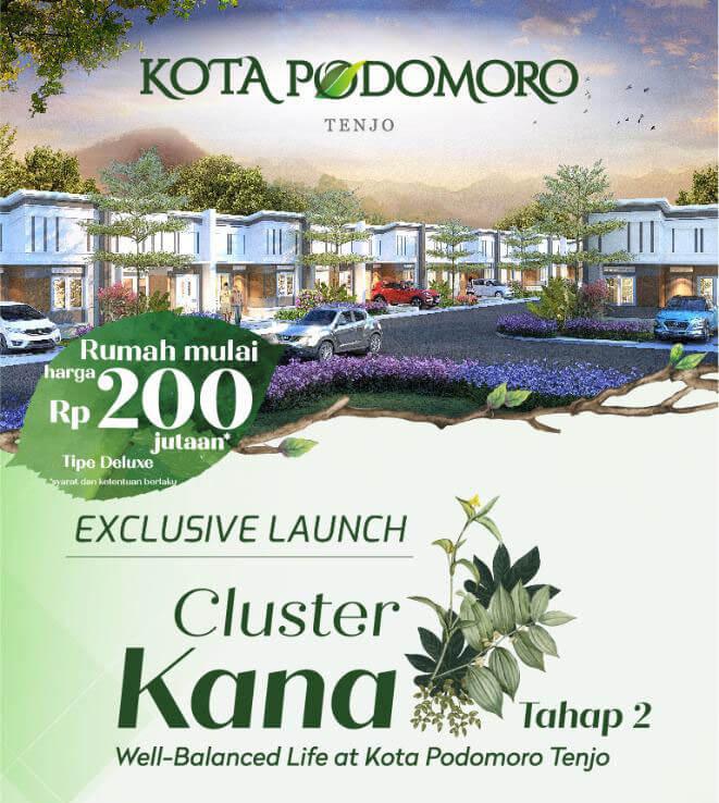 Rumah Cluster Kana Kota Podomoro Tenjo Dijual 200 Jutaan