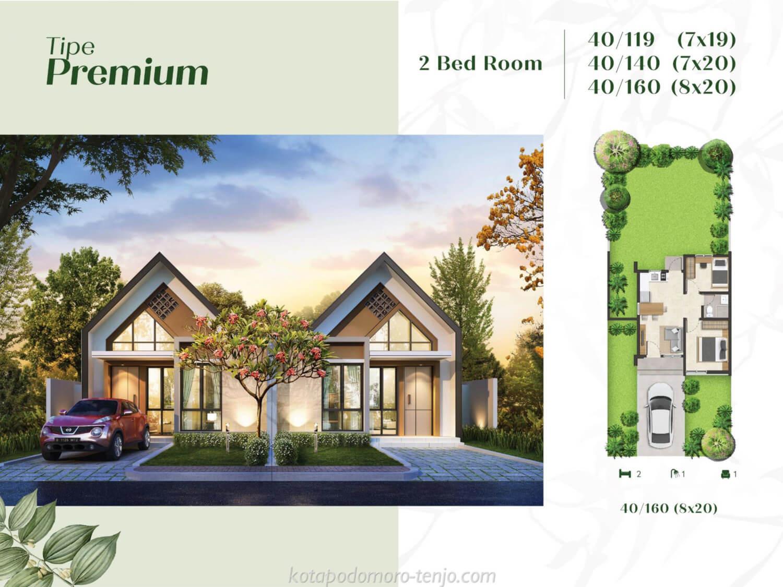 Rumah Kota Podomoro Tenjo Tipe Premium 2 BR
