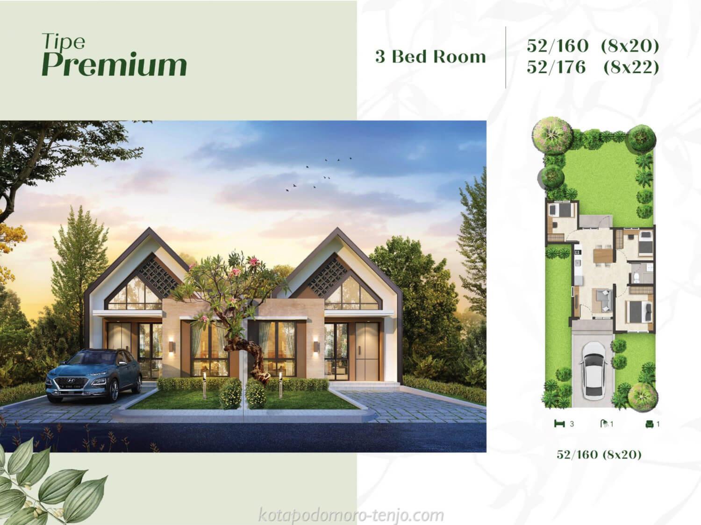 Rumah Kota Podomoro Tenjo Tipe Premium 3 BR