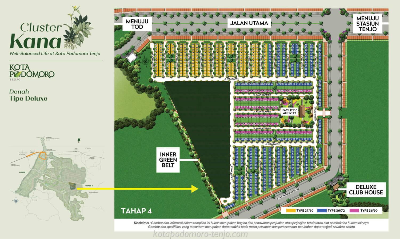 Siteplan Cluster Kana Kota Podomoro Tenjo