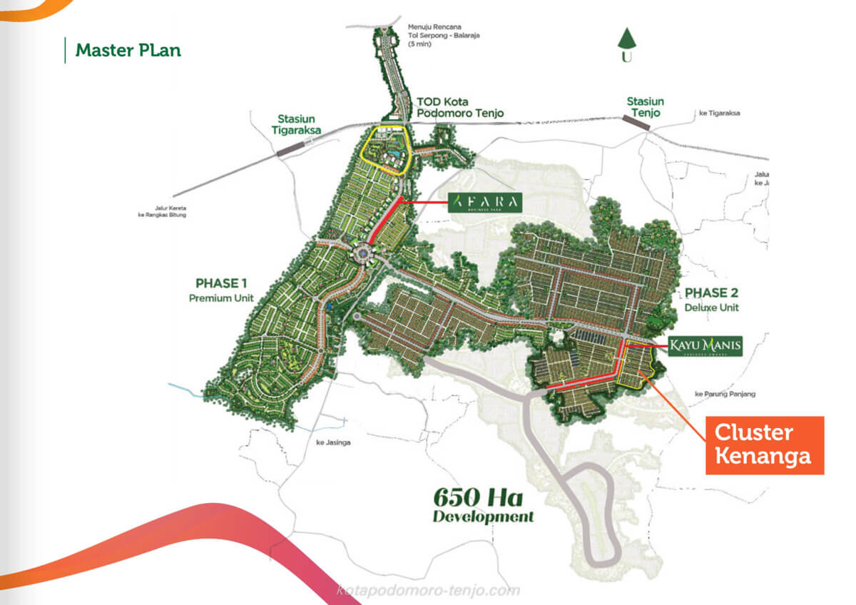 Lokasi Cluster Kenanga Kota Podomoro Tenjo